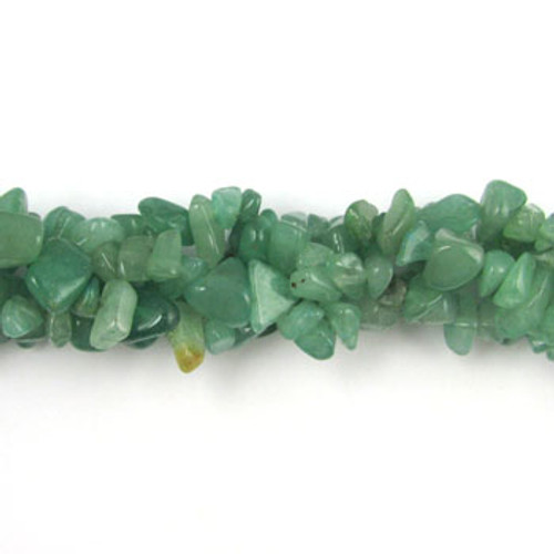 SPSC003 - Green Aventurine Semi-Precious Stone Chip Beads (36 in. strand)