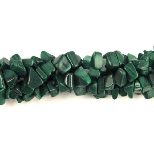 SPSC022 - Malachite Semi-Precious Stone Chip Beads (36 in. strand)
