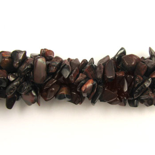 SPSC033 - Red Tiger Eye Semi-Precious Stone Chip Beads (36 in. strand)