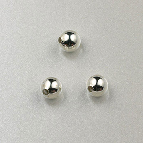SS0003 - 4mm Round Bead, Sterling Silver (pkg of 50)