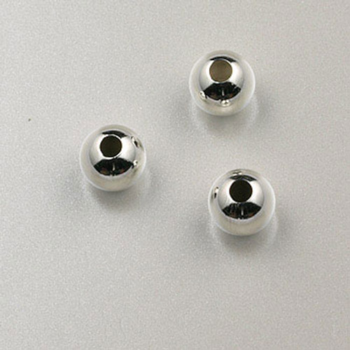 SS0004 - 5mm Round Bead, Sterling Silver (pkg of 25)