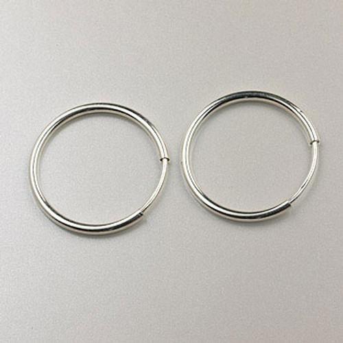 SS0118 - 16mm Endless Hoop Earring, Sterling Silver (pair)