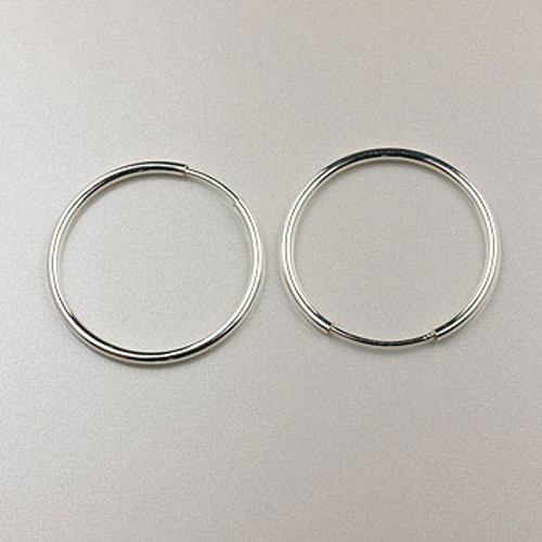 SS0119 - 20mm Endless Hoop Earring, Sterling Silver (pair)