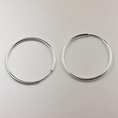 SS0120 - 24mm Endless Hoop Earring, Sterling Silver (pair)