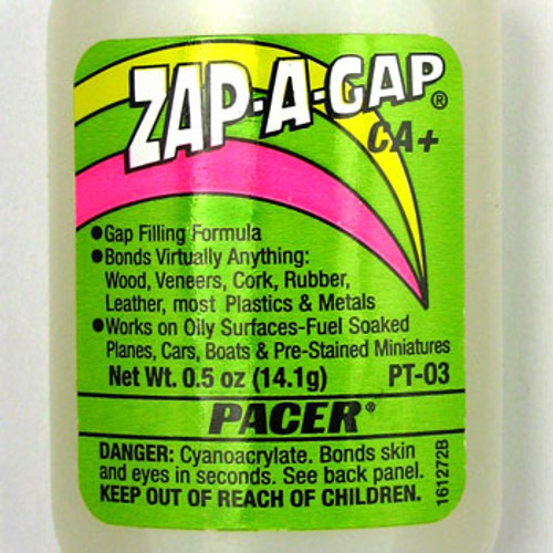 TO0075 - Zap-A-Gap Adhesive (0.5 oz), Pacer