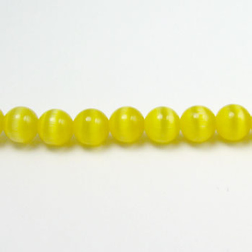FOR004 - Dark Yellow Fiber Optic, Rounds (approx. 14in. strand) - 8MM