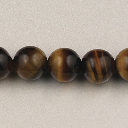 SPS0088 - Yellow Tiger Eye, 8MM Round (Approx. 15 in.)