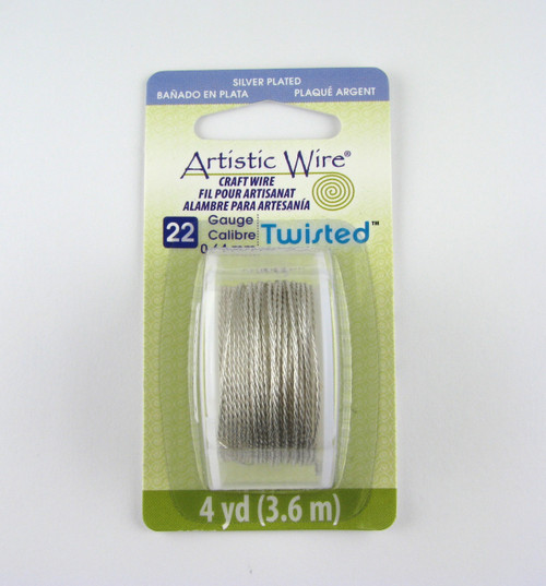 STR0168 - Silver Plated Tarnish Resistant, Twisted, 22 Gauge Artistic Wire (4 yd spool)