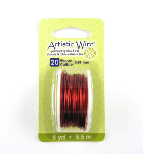 STR0172 - Red, 20 Gauge Artistic Wire (6 yd spool)