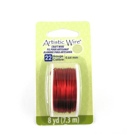 STR0173 - Red, 22 Gauge Artistic Wire (8 yd spool)
