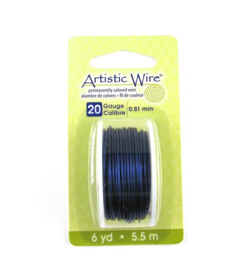 STR0174 - Dark Blue, 20 Gauge Artistic Wire (6 yd spool)
