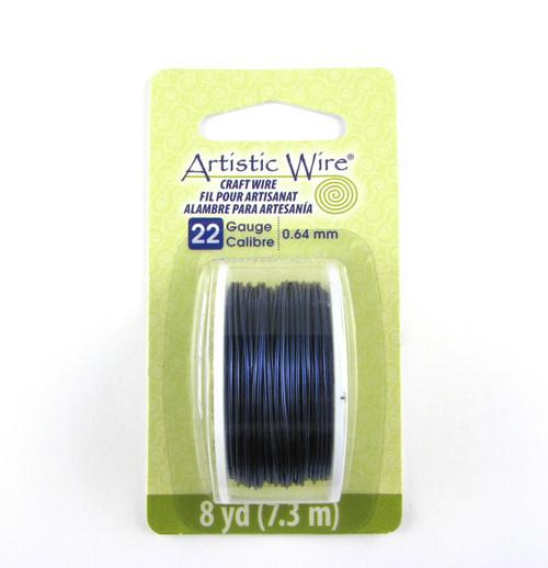 STR0175 - Dark Blue, 22 Gauge Artistic Wire (8 yd spool)