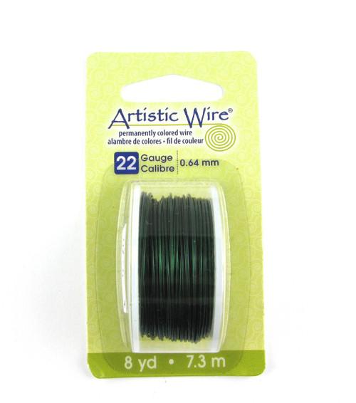 STR0177 - Green, 22 Gauge Artistic Wire (8 yd spool)