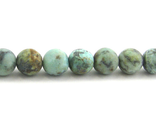 SPS0071 - Matte African Turquoise, 8mm Round (Approx. 15 in.)