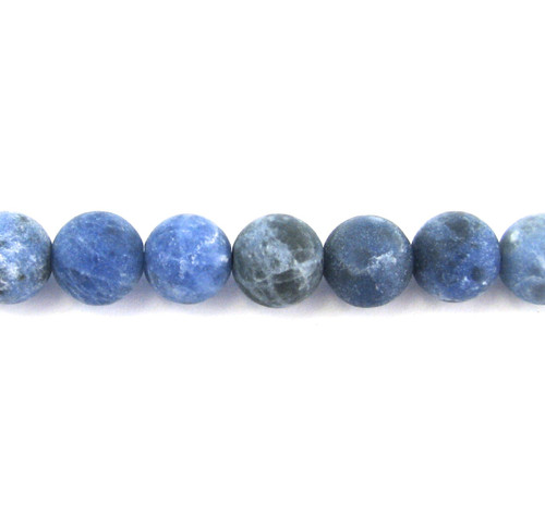 SPS0076 - Matte Sodalite, 8mm Round (Approx. 15 in.)