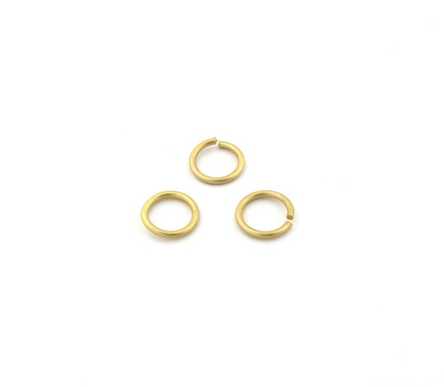 SHGP004 - 8mm 18ga Open Jump Ring, Satin Hamilton Gold Plated (pkg of 100)