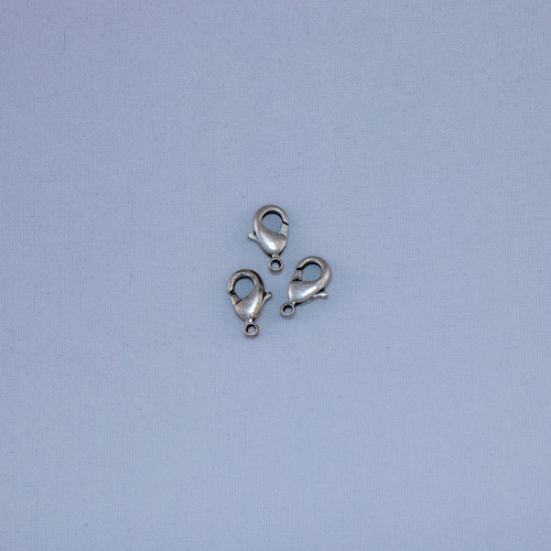 ASP012 - 12mm Lobster Claw Clasp, Antique Silver Plated (pkg of 10)