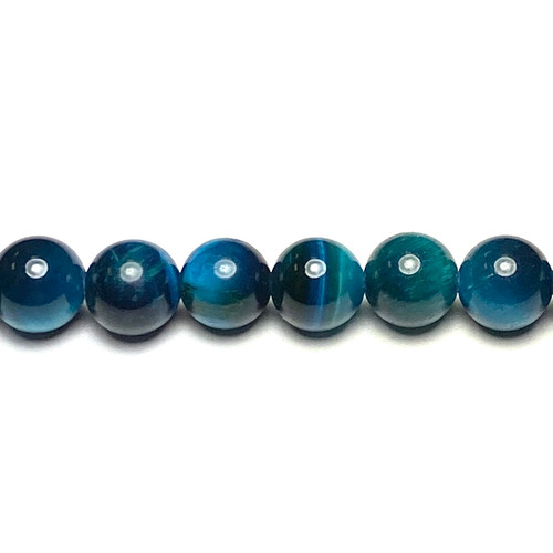 SPS0107 - Teal Tigers Eye, Rounds (Approx. 15 in.)