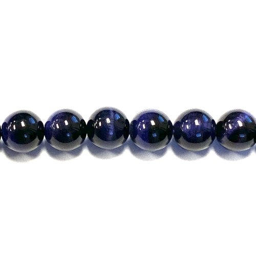 SPS0108 - Purple Tigers Eye, Rounds (Approx. 15 in.)