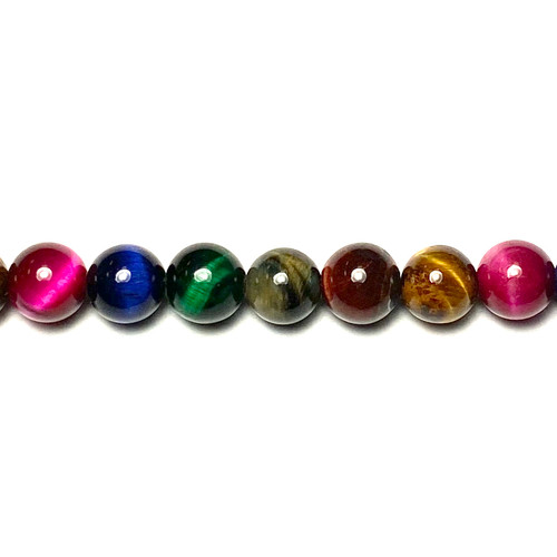 SPS0109 - Multi Colored Tigers Eye, Rounds (Approx. 15 in.)