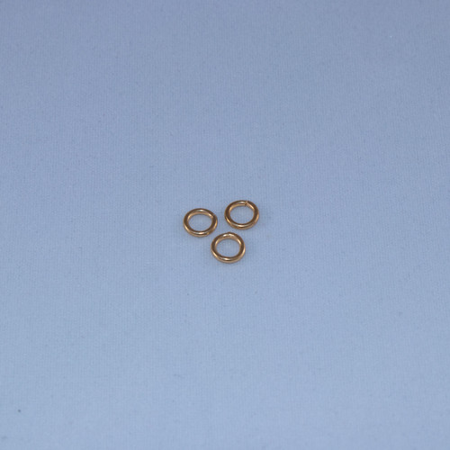 SHGP011 - 6mm 18ga Closed Jump Ring, Satin Hamilton Gold Plated (pkg of 50)