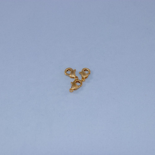 SHGP020 - 10mm Lobster Claw Clasp, Satin Hamilton Gold Plated (pkg of 10)