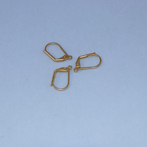 SHGP025 - Leverback Earrings, Satin Hamilton Gold Plated (pkg of 10)