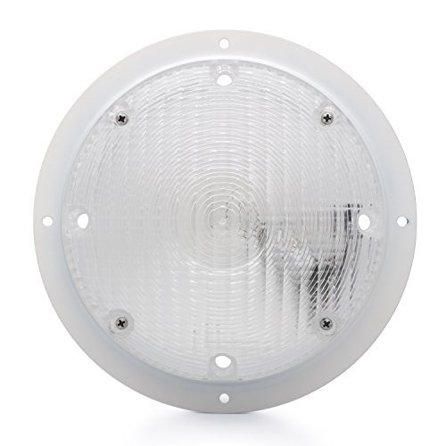 Surface Mount Scare Light w/ Mounting Gasket - White Base