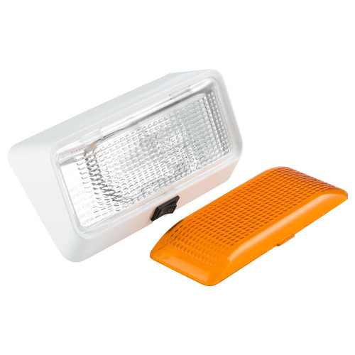 RV Exterior Porch Light with On/Off Switch and Removable Lenses