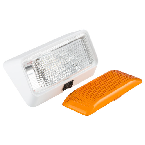 LED RV Exterior Porch Light with On/Off Switch and Removable Lenses