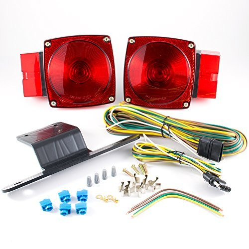 "Submersible Over 80"" Universal Mount Combination Trailer Tail Lights Kit"