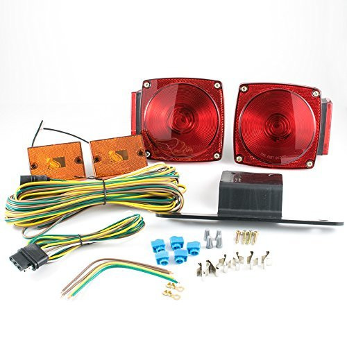 "Submersible Under 80"" Universal Mount Combination Trailer Tail Lights Kit"