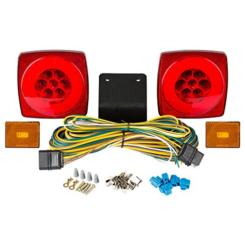 "HALO LED Submersible Under 80"" Trailer Light Kit w/Amber Clearance Markers"