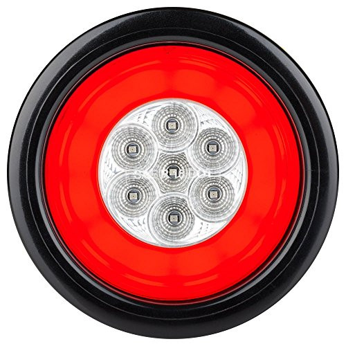 "HALO LED 4"" Sealed Round Stop/Turn/Tail Lights - White Lens"
