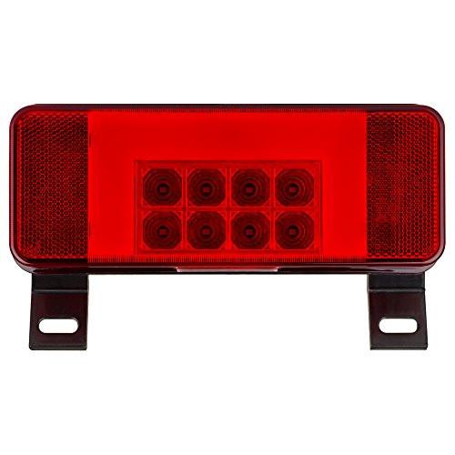 LED RV combination tail light, driver side with license illuminator, black base