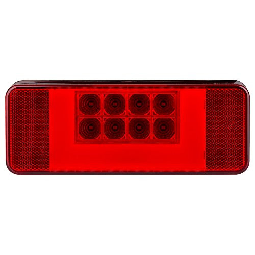 LED RV combination tail light, passenger side, black base