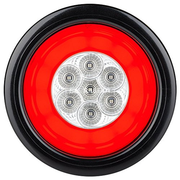"HALO LED 4"" Sealed Round Stop/Turn/Tail Lights - White Lens"
