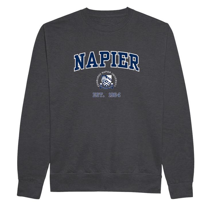 Edinburgh Napier 'Harvard' Sweatshirt - Charcoal
