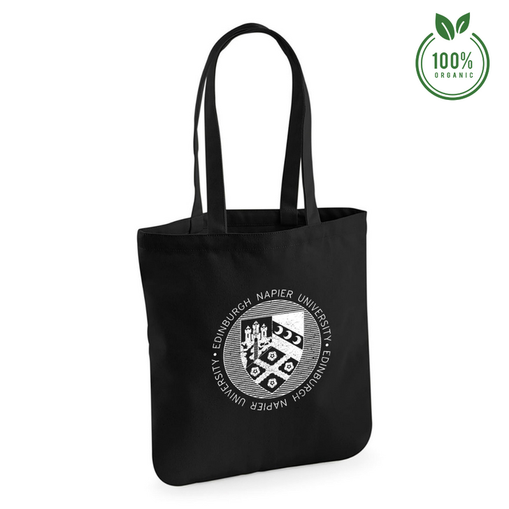 Napier Distressed Crest Organic Tote Bag - Black