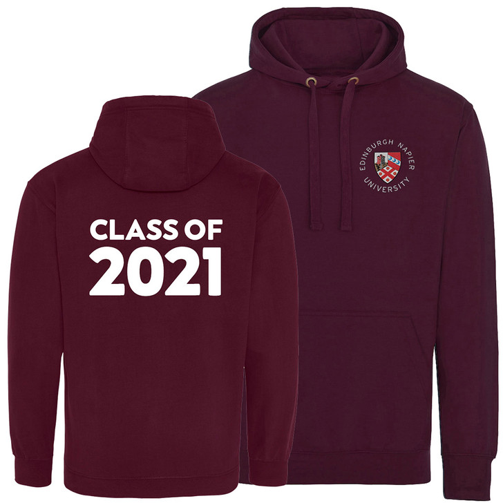 Class of 2021 Graduation Napier Hoodie - Maroon