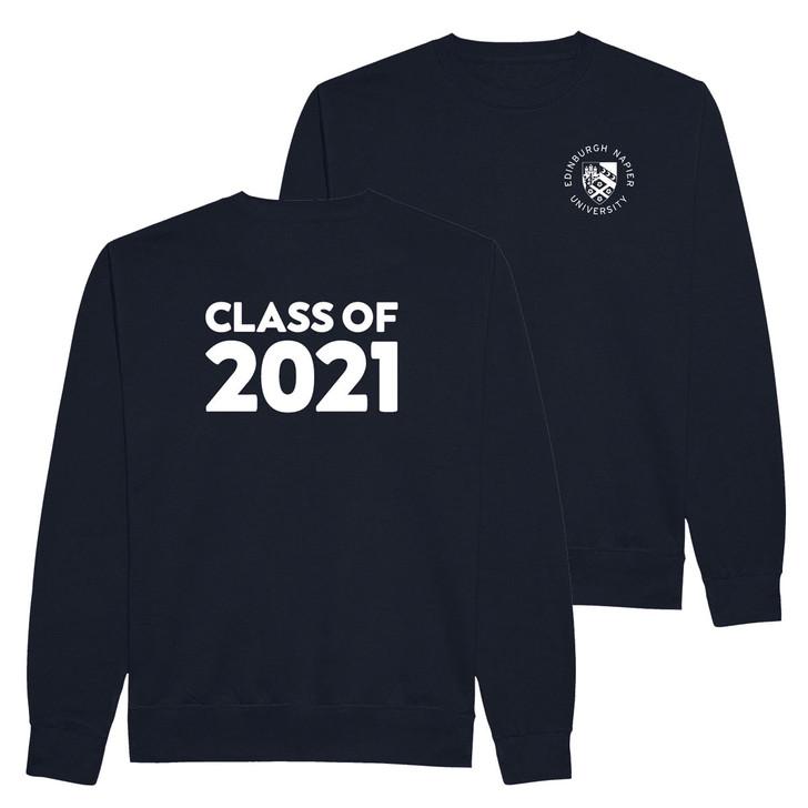 Class of 2021 Graduation Printed Sweatshirt - Navy