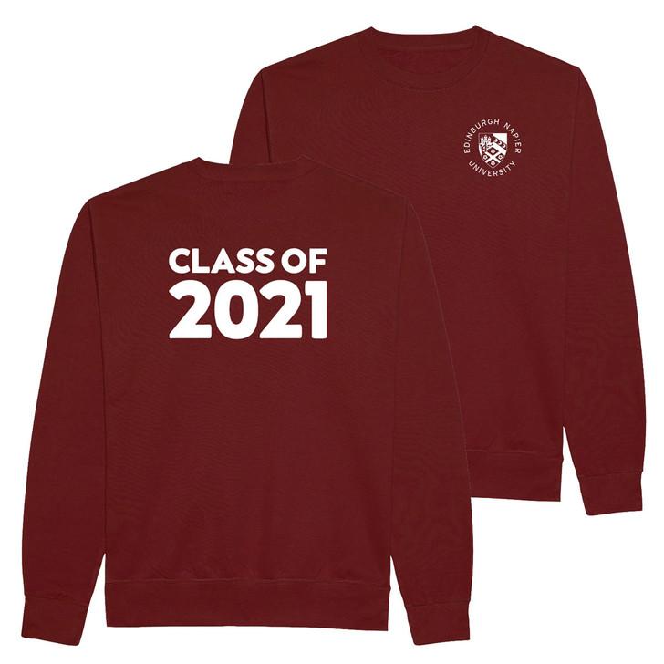 Class of 2021 Graduation Printed Sweatshirt - Maroon