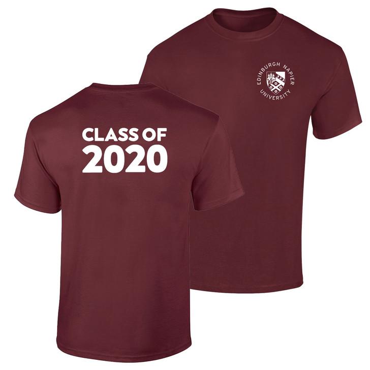 Class of 2020 Graduation Printed T-shirt - Maroon