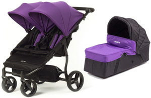 Easy Twin Plus Carrycot Bundle Purple