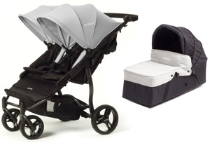 Easy Twin Plus Carrycot Bundle Grey