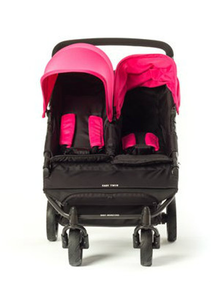 Easy Twin Plus Carrycot Bundle Pink EX DISPLAY MODEL