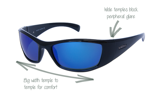 Spotters Artic + Gloss Black Crown Glass Sunglasses