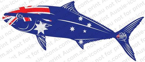 Aussie Icons Fish Stickers - Kingfish