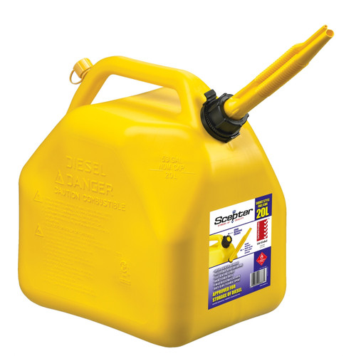 Scepter Jerry Can 20L Yellow - Diesel