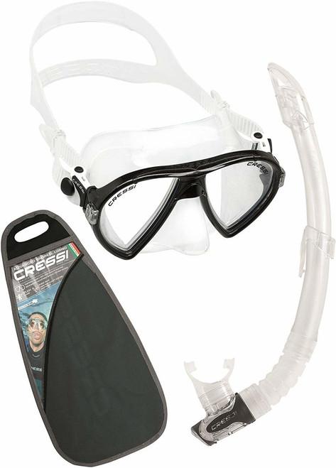 Cressi Ocean VIP Mask Snorkel Set Black